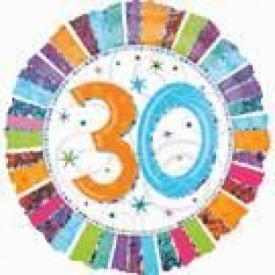 30th Birthday Balloons Perth