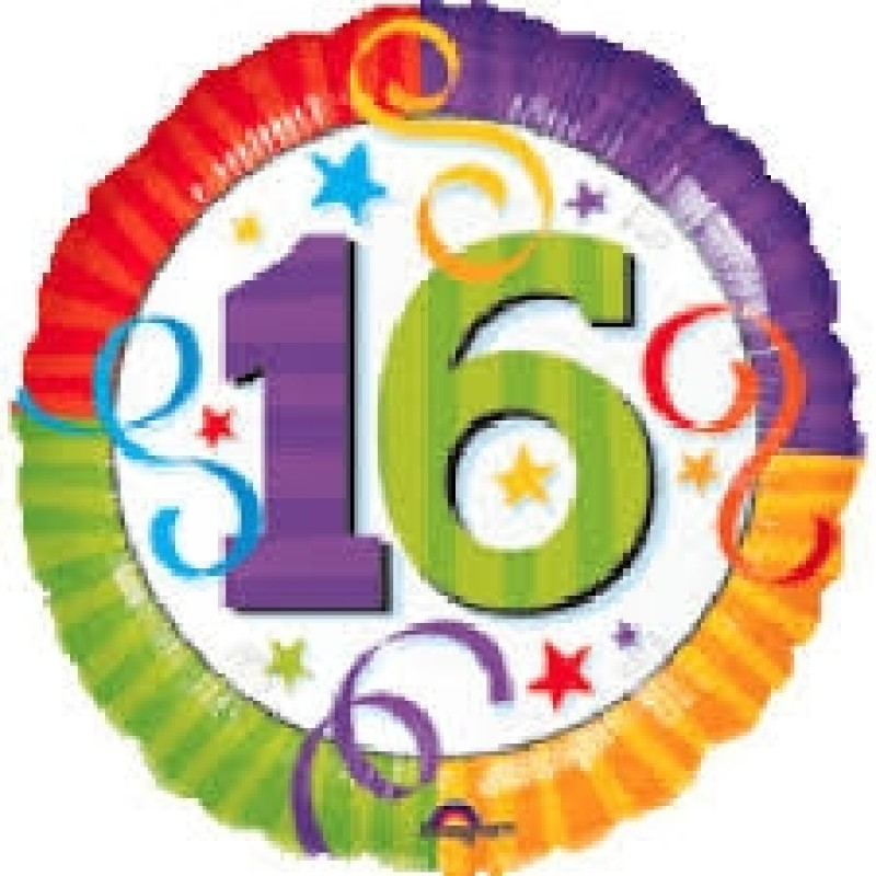 16th Birthday Balloons Perth