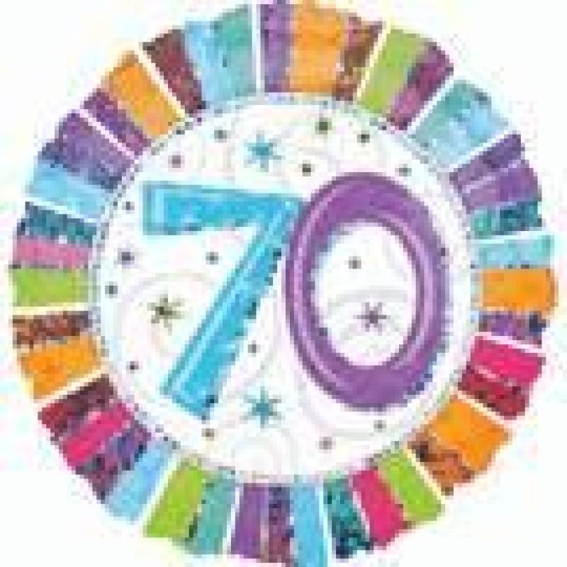 70th Birthday Balloons Perth