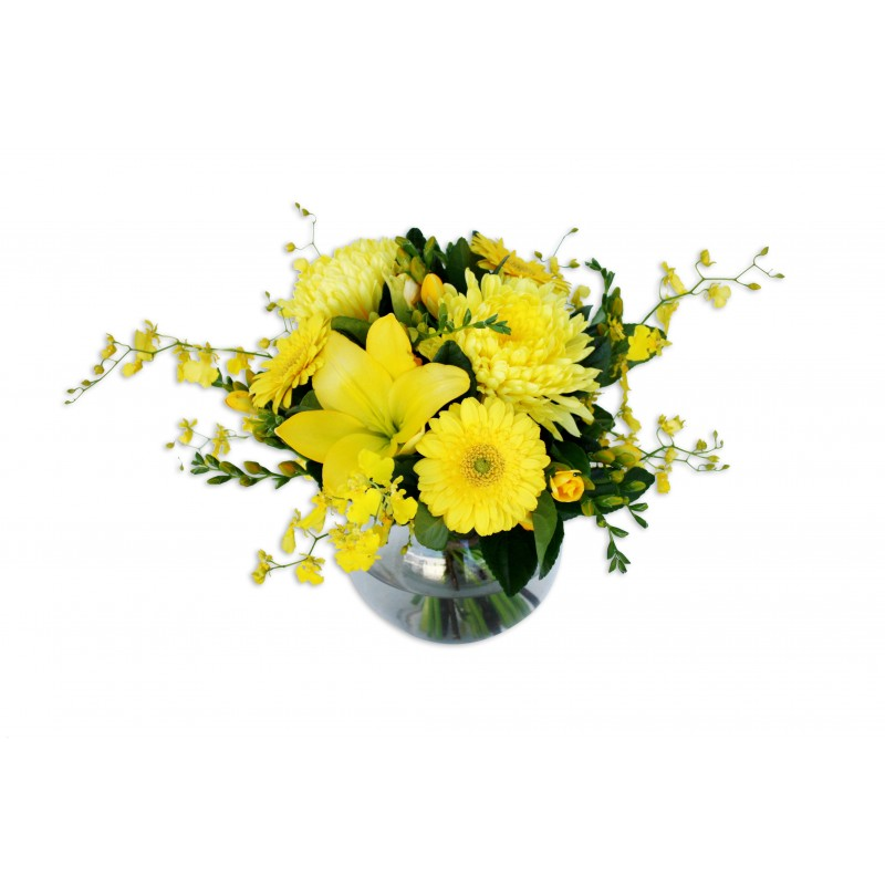 Yellow flower arrangement perth yellow flowers perth delivery mightylinksfo