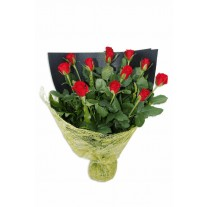 1 Dozen Premium Long Stem Red Roses in a Bouquet