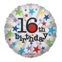 16th Birthday Helium Balloon