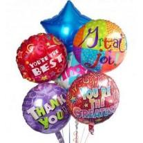 Balloon Bouquet - 6 Foil Helium Balloons