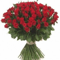 99 Red Roses in a Bouquet