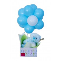 Baby Boy Balloon Topiary Gift