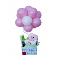 Baby Girl Balloon Topiary Gift