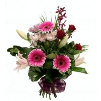 Bouquet of Seasonal Flowers with Big Bow