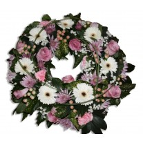 Funeral Wreath in Soft Colours