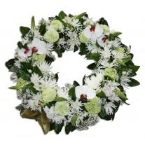 Funeral Wreath - Mixed In Season Flowers