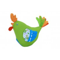 Lime Rooster Soft Toy