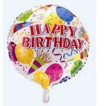 Happy Birthday Balloon - Bright Multi Colour