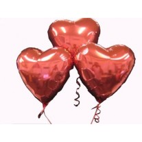 Bunch of Love Heart Helium Balloons