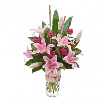 Mother's Day Oriental Lily & Rose Bouquet