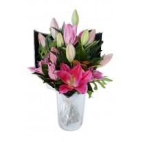 Stargazer Oriental Lily Bouquet