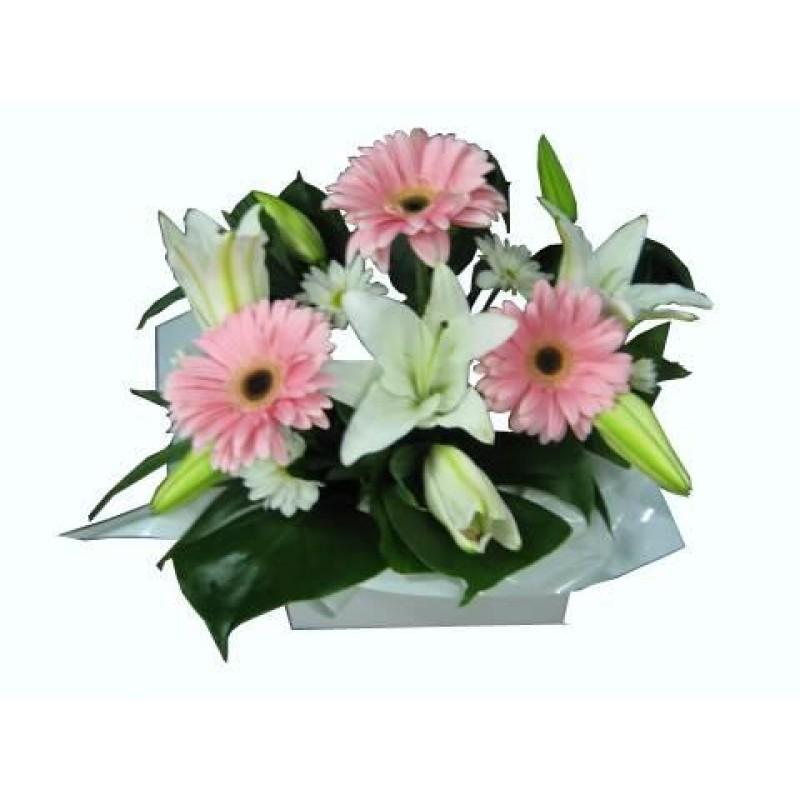 softy-pink-white-flower-arrangement-perth