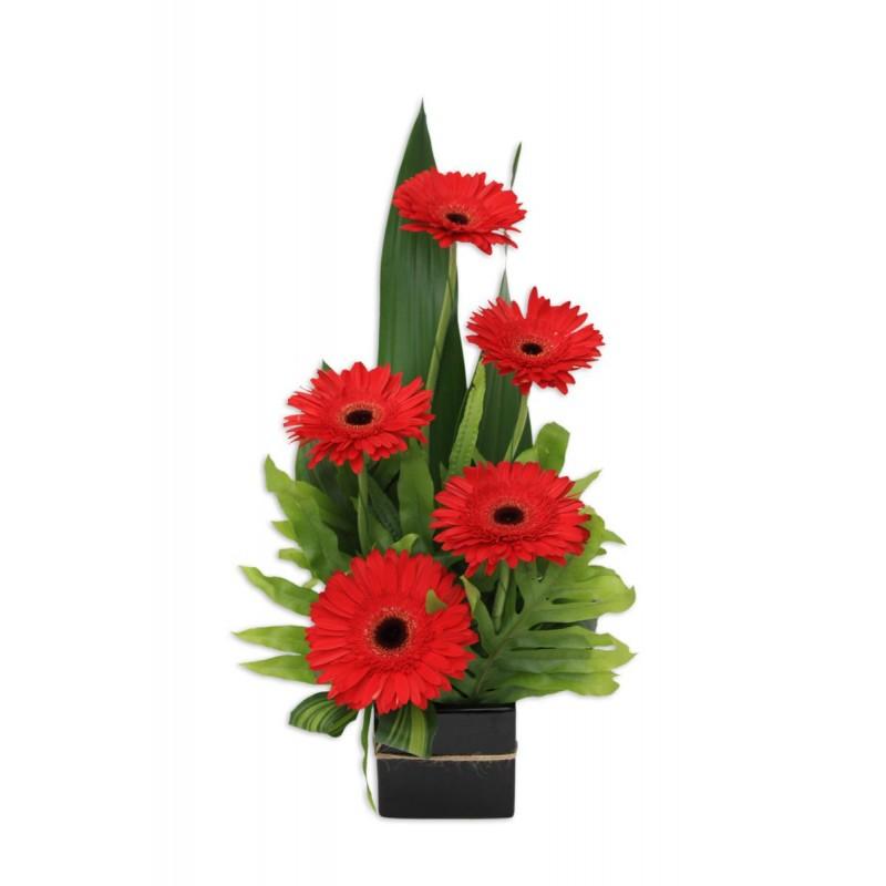 Gerbera-Jazz-Flower-Arrangement-Perth-1