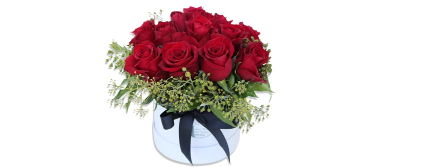 Valentines Day Roses ina Hat Box Perth